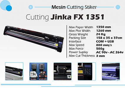 Mesin Cutting Sticker JINKA FX 1351